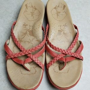 LL Bean size 11 Orange Leather sandals